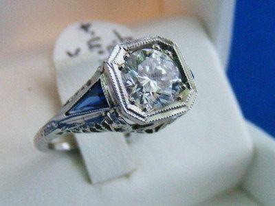 Vintage Secret Message Diamond Rings