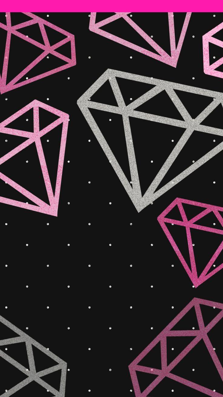 606 besten diamonds gems jewels bilder auf pinterest for Schwarze glitzer tapete