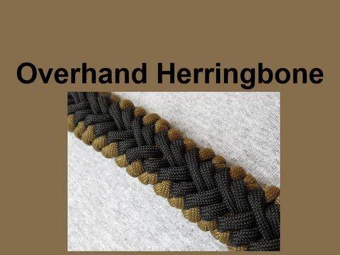 "How to make an Overhand Herringbone Paracord Bracelet (5/8"" buckle)"
