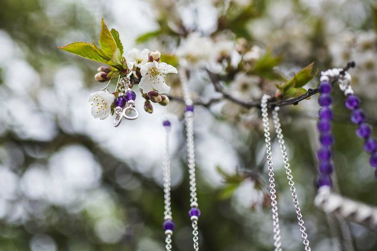 silver and amethyst jewelry in our secret garden - Vinterhoff
