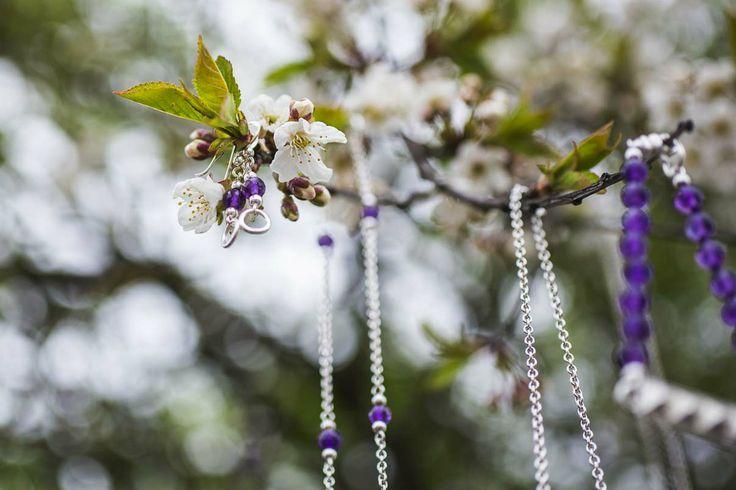 silver and amethyst jewelry in our secret garden - Vinterhoff