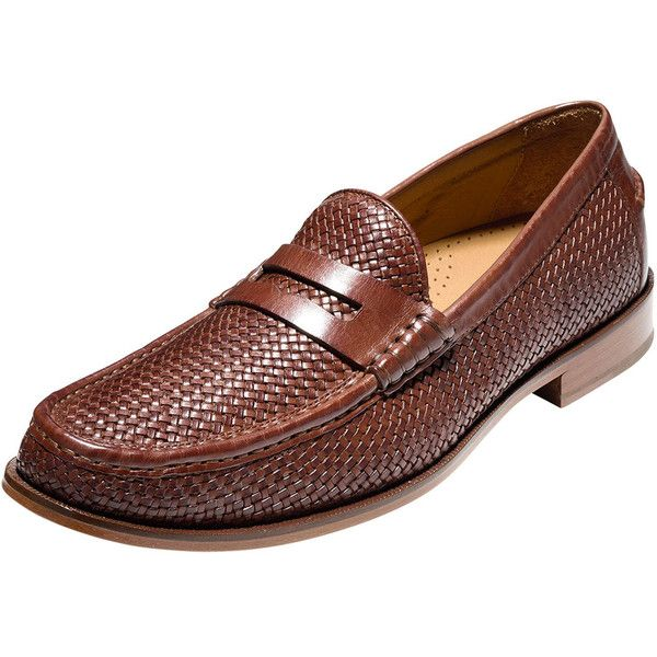 Cole Haan Pinch Gotham Woven Penny Loafer ($250) ❤ liked on Polyvore featuring men's fashion, men's shoes, men's loafers, woodbury, mens lightweight running shoes, mens penny loafer shoes, mens loafer shoes, mens woven shoes and mens moccasins shoes