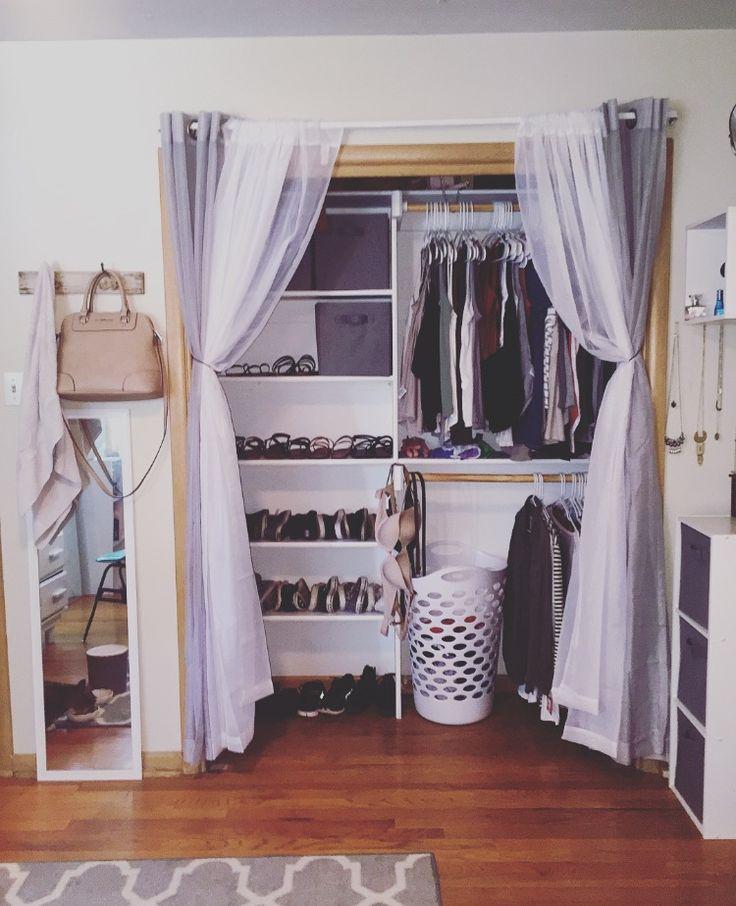 best 25 curtain closet ideas on pinterest curtains for. Black Bedroom Furniture Sets. Home Design Ideas