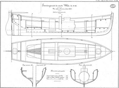 Quinze marins sur le bahut du mort...: Plan d'un Canot de 6m40