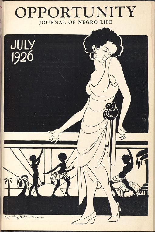 Front cover of Opportunity: Journal of Negro Life, July 1926  Bennett, Gwendolyn, 1902-1981 (Artist)