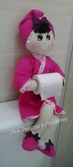 Haz estas lindas muñecas para decorar tu baño fácilmente con poquísimo dinero con tan sólo este molde.
