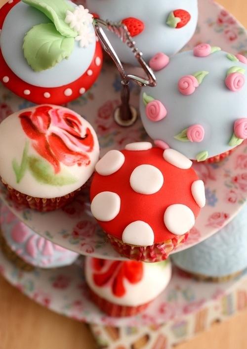 Toadstool Tea Party cupcakes
