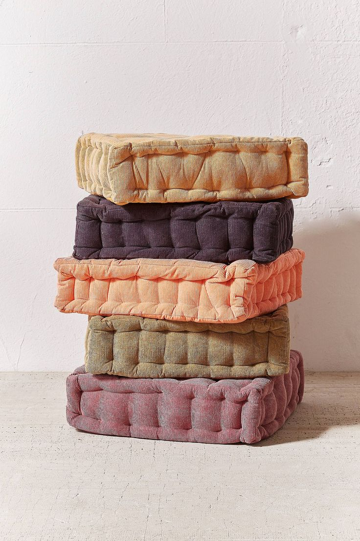 Washed Corduroy Floor Pillow Floor pillows, Pillows