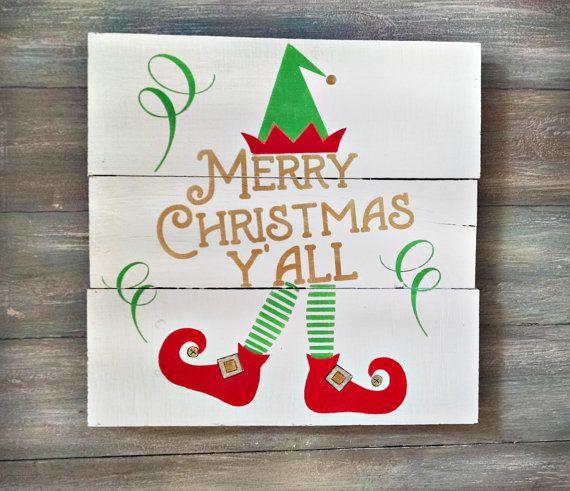Merry Christmas Y'all  Merry Christmas Sign   by OnALimbCreations