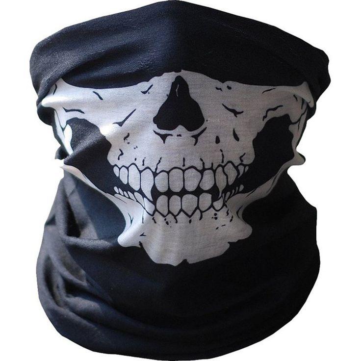 Cráneo de la motocicleta de la Cara Del Fantasma Máscara A Prueba de Viento Deportes Al Aire Libre Calientes Gorros De Esquí Bicicleta Máscaras Pasamontañas Bufanda Máscaras de Halloween