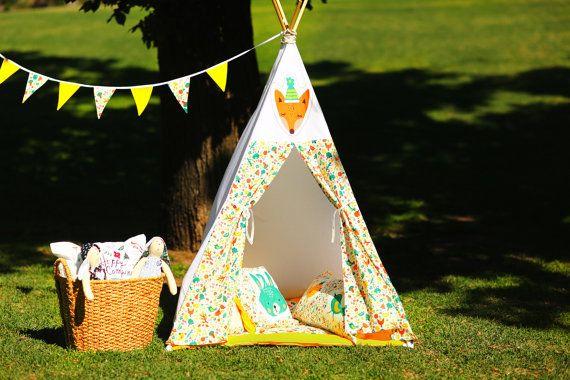 Kids Teepee (Play Tent, Childrens Teepee, Teepee Tent, Kids Tent, Tipi, Playhouse, Play teepee, Kids teepee tent, Wigwam, Kids play tent)