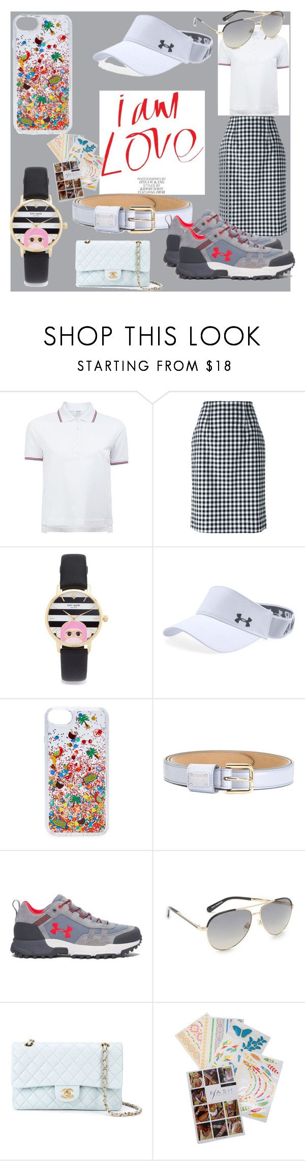 """""""set sale offer"""" by denisee-denisee ❤ liked on Polyvore featuring Thom Browne, Blumarine, Kate Spade, Under Armour, Tory Burch, Dolce&Gabbana, Chanel, Flash Tattoos and vintage"""