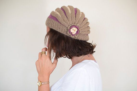 Knitted Hat, Women Hat, Hand Knitted Beanie