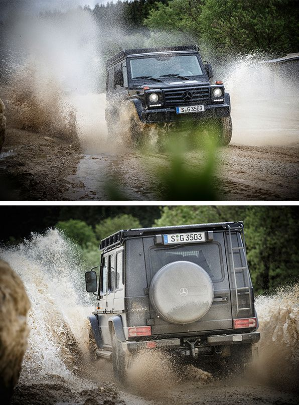 With the puristic variant, Mercedes-Benz continues the success story of its off-road icon: the G 350 d Professional. [Mercedes-Benz G 350 d | combined fuel consumption 9.9 l/100km | combined CO2 emission 261 g/km | http://mb4.me/efficiency_statement]