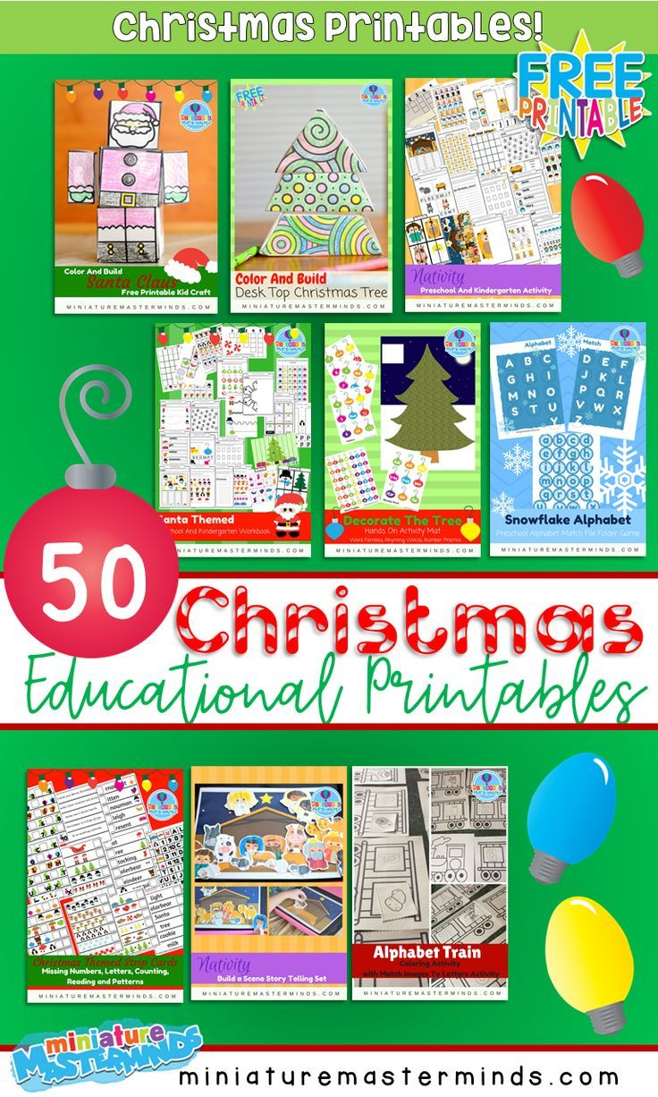 70 Free Printable Christmas Educational Printables Activites Crafts Worksheets Christmas Learning Activities Kindergarten Christmas Activities Christmas Learning