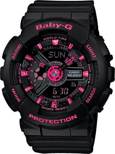 BA111-1A - Baby-G Black - Womens Watches | Casio - Baby-G