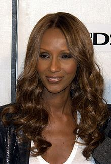 """Iman Mohamed Abdulmajid (Somali: Imaan Maxamed Cabdimajiid, Arabic: ايمان محمد عبد المجيد) (born July 25, 1955), professionally known as Iman (which means """"faith"""" in Arabic), is a Somali fashion model, actress and entrepreneur. A pioneer in the field of ethnic cosmetics, she is also noted for her charitable work. She is married to David Bowie."""