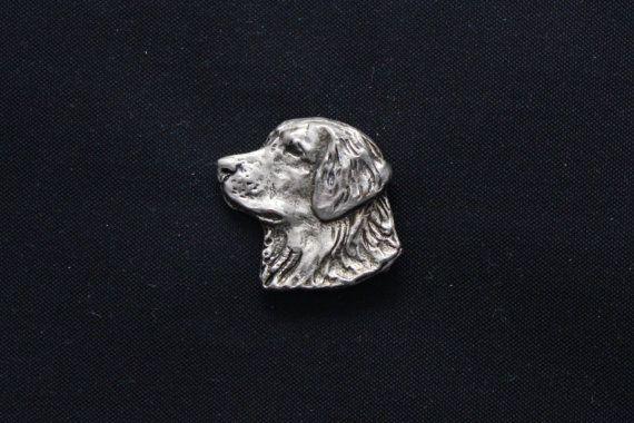 Golden Retriever head dog pin limited edition by ArtDogshopcenter