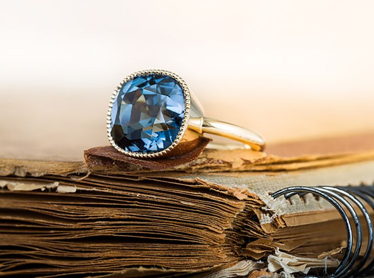 Ring with a Blue Tourmaline