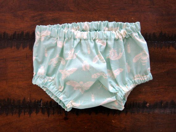 Mint Green Bloomer baby clothes diaper cover baby girl 1st birthday outfit mint shorts