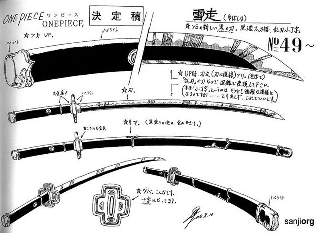 One Piece Concept Art Of Zoros Sword