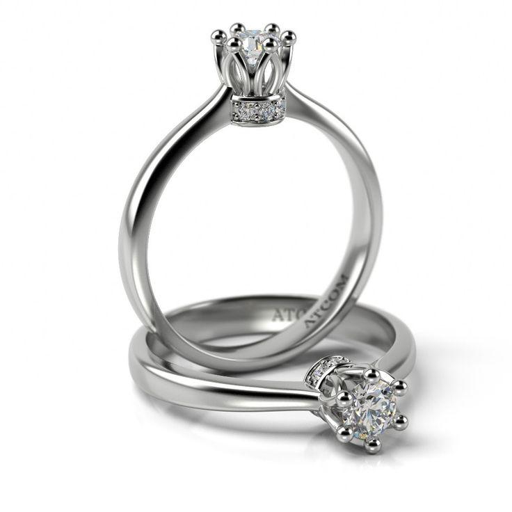 Inel de logodna Andreus cu diamante din aur alb