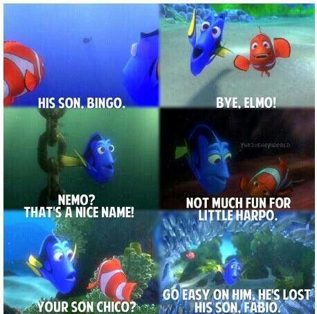 """Apparently """"Nemo"""" is really hard to remember...I love Dory.  Try to remember this next time you have a child that has a hard time focusing!"""