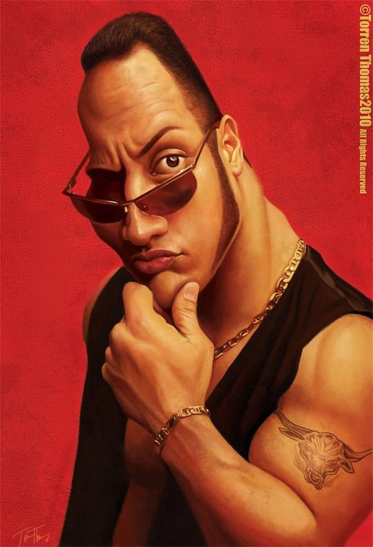 The Rock Caricature by Torren Thomas