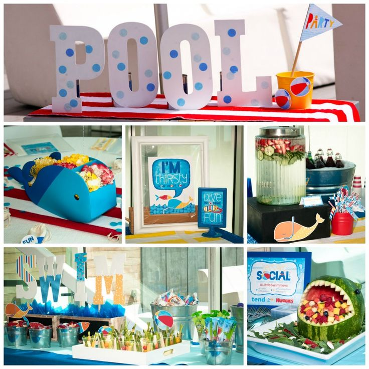 18 best images about pool party on pinterest amigos for Pool party dekoration