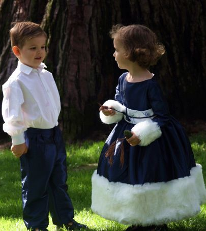 Blue flower girl dress for winter weddings... Discover more at http://www.littleeglantine.com