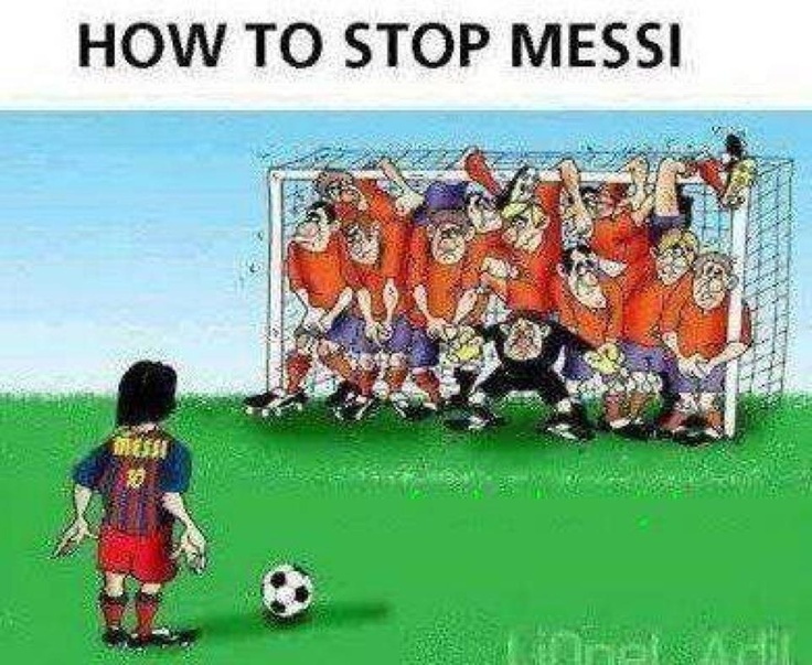 How to stop Messi, worked yesterday...