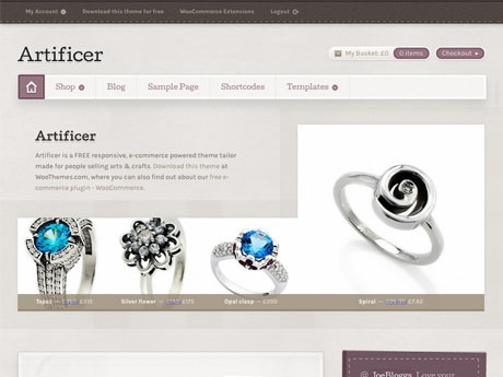Artificer | WooThemes - nice for a startup business with a product to sell!