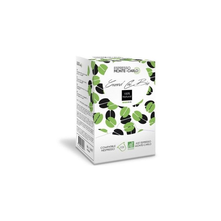 Capsules Grand Cru Bio Espresso Monte Carlo compatibles Nespresso