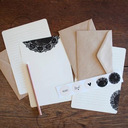 An April Idea - Writing Set - Doily - hardtofind.