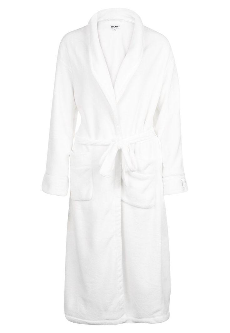 DKNY Intimates Szlafrok white 311.20zł #moda #fashion #women #kobieta #dkny #intimates #szlafrok #damski #white #biały #długi #bielizna #damska