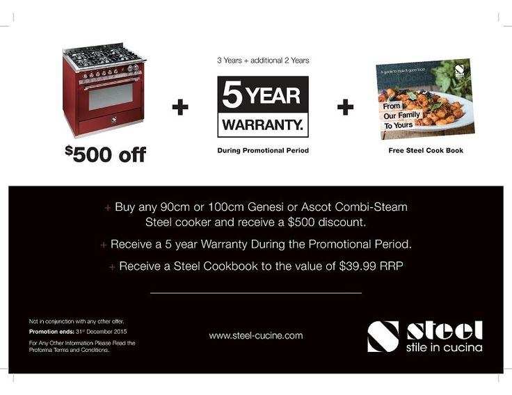 """Ascot by STEEL - SAVE $500 ON THESE HANDCRAFTED RANGE COOKERS by STEEL - """"Ascot"""" built on a family tradition since 1922"""