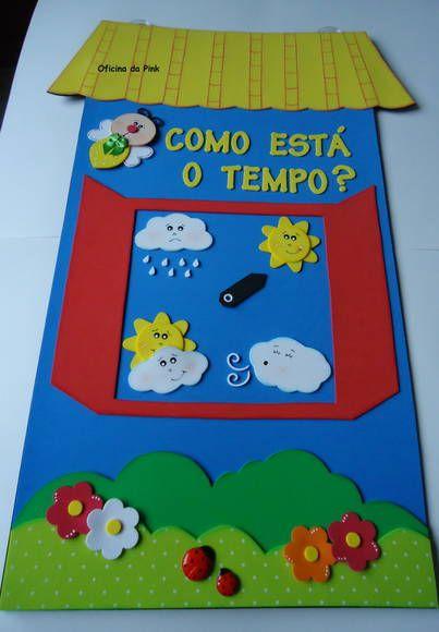 Painel escolar Janelinha do tempo | Oficina da Pink | Elo7