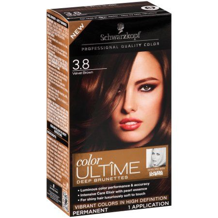Schwarzkopf Color Ultime Deep Brunettes Hair Coloring Kit, 3.8 Velvet Brown