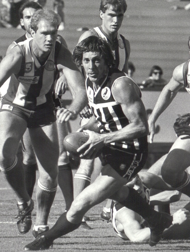 Russell Ebert  4 Time Magarey Medallist (1971, 1974, 1976, 1980)  3 Time SANFL Premiership Player (1977,1980,1981)  Six Time PAFC Best and Fairest (1971, 1972, 1974, 1976, 1977, 1981)  One Time PAFC Leading Goalkicker (1968)    PAFC Captain 1974-1978, 1983-1985