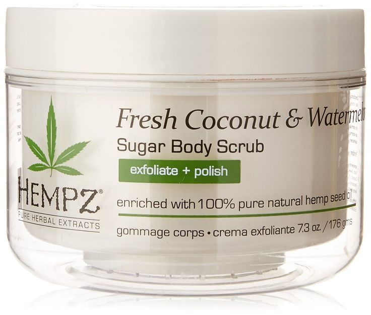 Hempz Herbal Sugar Body Scrub, Pearl White, Fresh Coconut/Watermelon, 7.3 Fluid Ounce *** Details can be found by clicking on the image. (Note:Amazon affiliate link)