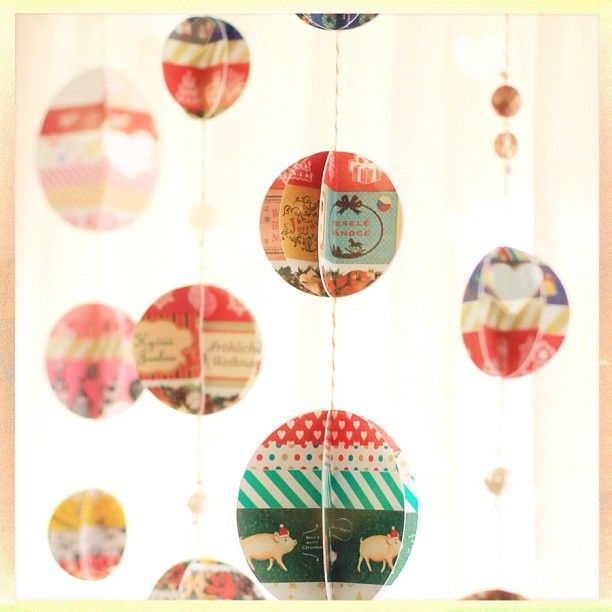adorably unique washi tape ornaments