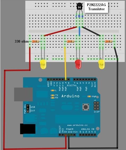Arduino Transistor Sketch (P2N2222AG) using PWM #arduino #transistor #sketch