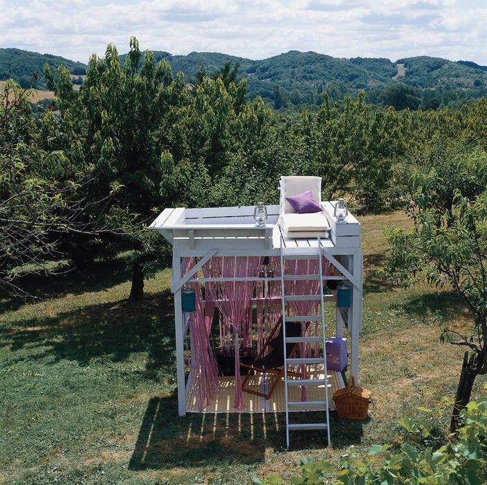 Une cabane en mezzanine pour le jardin – Du Cote de chez Vous