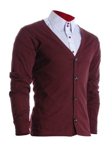 FLATSEVEN Mens Slim Fit Stylish Button up Cardigan (C100) Wine, S FLATSEVEN http://www.amazon.com/dp/B00S8COTTA/ref=cm_sw_r_pi_dp_5Znjvb1QVW7XY #FLATSEVEN #sweater #cardigan #menswear #casual