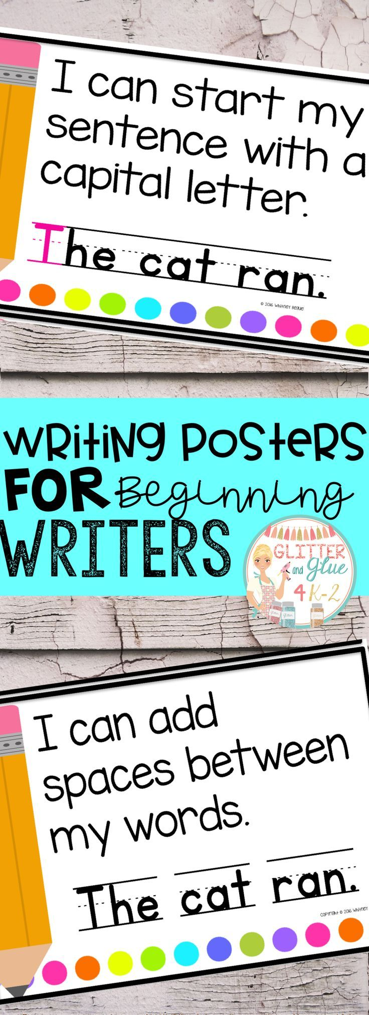 These posters are perfect to hang in your writing center for your little ones! I would recommend these be used in either a preschool, kindergarten, or first grade classroom! I've included a version with a black background and a printer-friendly version with a white background.Keywords: writing centers, kindergarten, first grade, anchor charts, chalk theme, neon, bright colors, bright classroom, classroom decor