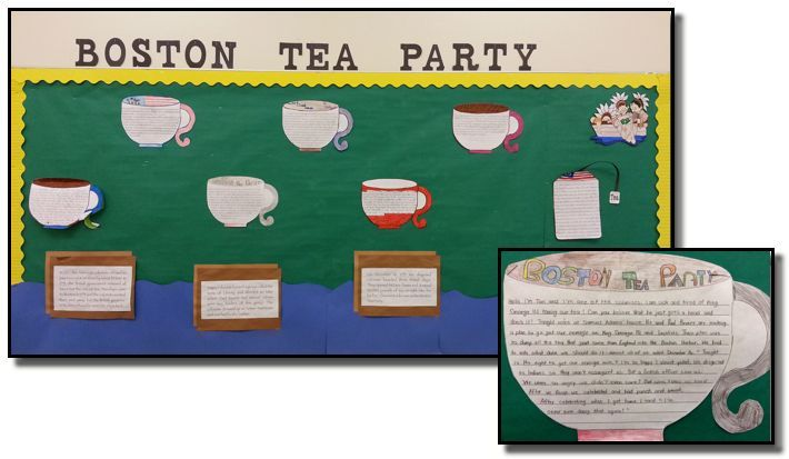 Voice Activity- Writing from the colonists' perspective (Boston Tea Party)