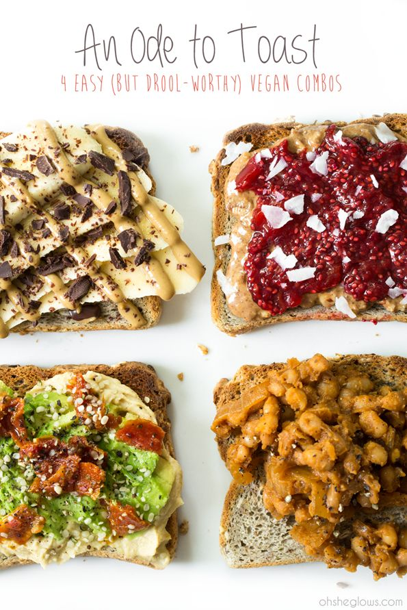 An Ode To Toast: 4 Easy (But Drool-Worthy) Vegan Combos. Check out the maple baked beans!