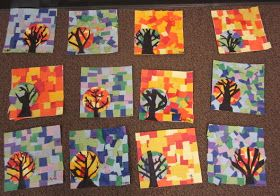 ART with Mrs. Smith: Mosaic Trees