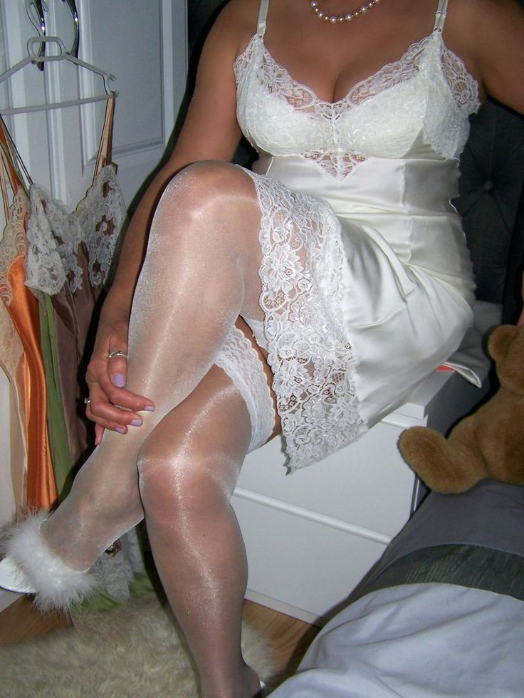 Slip showing upskirt free lacy satin