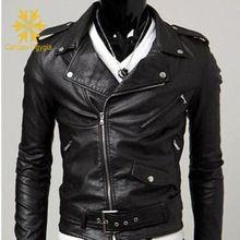 Autunno uomini giacca colletto della giacca in pelle moto in pelle da uomo Biker in pelle giacca invernale uomini giacca di pelle e Pelle Scamosciata degli uomini(China (Mainland))